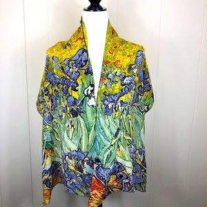 Cocoon House Silk Crepe Scarf - Van Gogh Irises